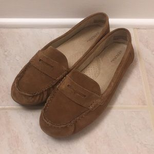 Merona tan driving loafers size 10